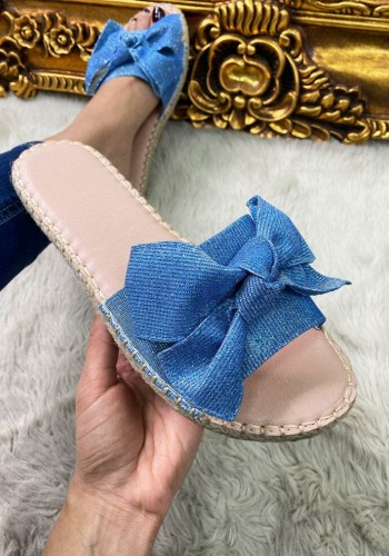 Saphia Fine Glitter Bow Detailed Sliders