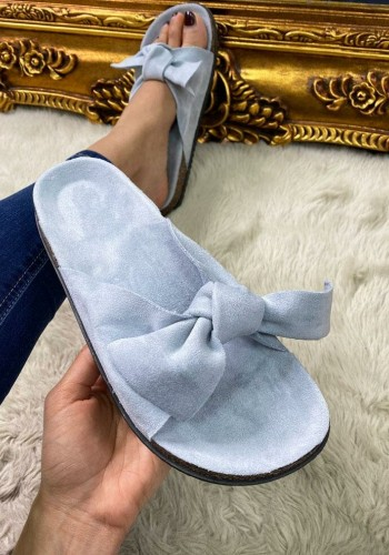 Marina Faux Suede Tie Knot Sliders
