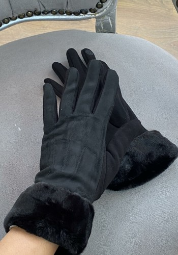 Sharday Faux Fur Suede Gloves
