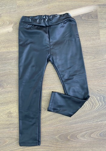 Maybel Black Faux Leather KIDS Leggings