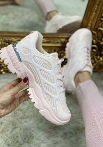 Vonny Baby Pink Chunky Sole Trainers