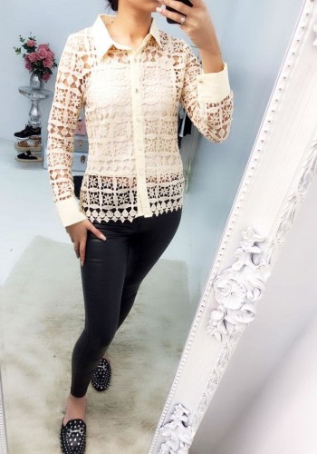 Jantelle Crochet Double Layer Shirt