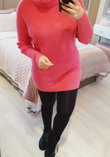 Jenny Ribbed Cable Knit Roll Neck Jumper