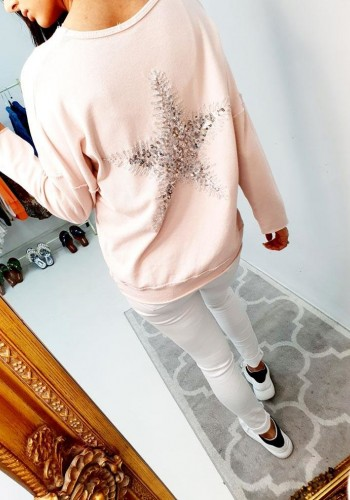 Katana Sequin Star Soft Loose Fit Jumper