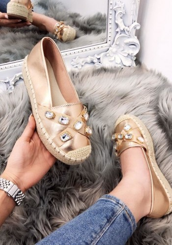 Ketona Metallic Jewel Detailed Espadrilles