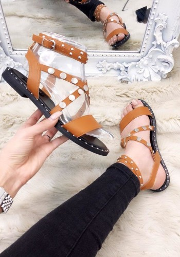 Lula Studded Detail Strappy Peep Toe Sandals