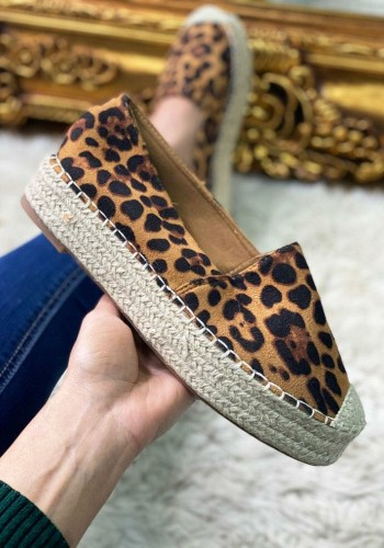 Madely Leopard Faux Suede Espadrille