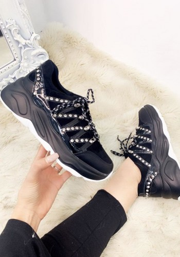 Monrose Studded Jewelled Zig Zag Detailed Chunky Trainers