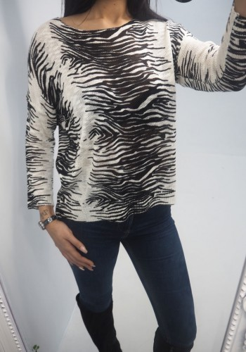 Remy Super Soft Zebra Stripe Jumper