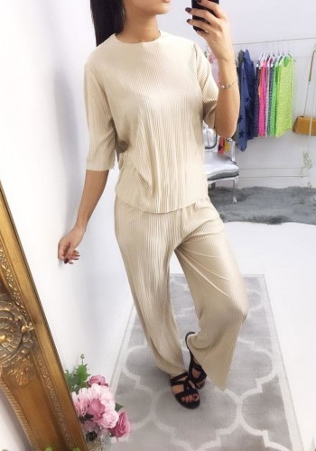 Panama Pleated Loungewear Set