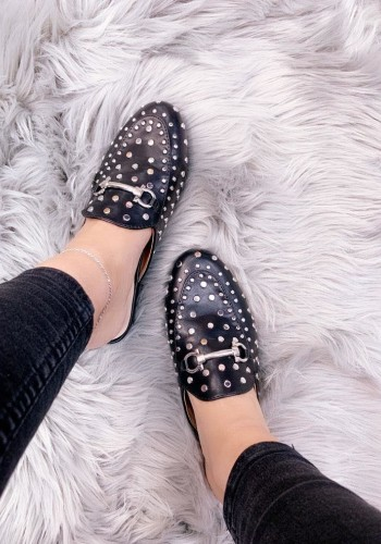 Rhodes Studded Faux Leather Slip On Espadrilles