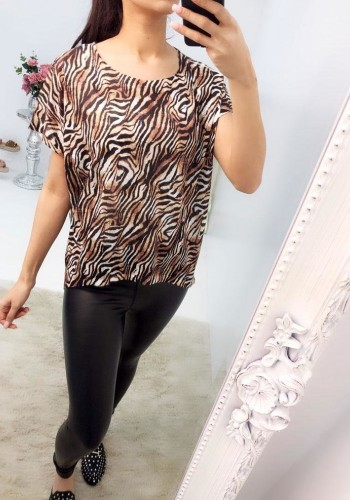 Ronan Oversized Dipped Hem Tiger Print T-shirt