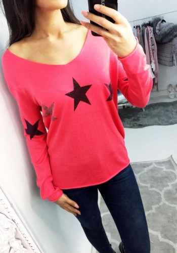 Sandie Studded Star Print Thin Knit