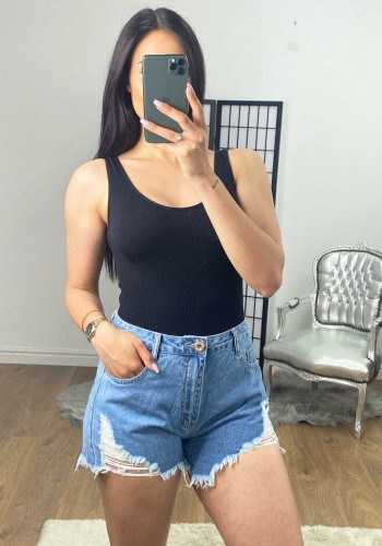 Chasey Ripped Distressed Denim Shorts