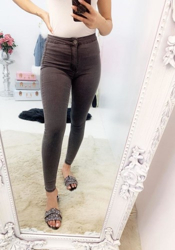 Sinead Grey High Waist Skinny Jeans