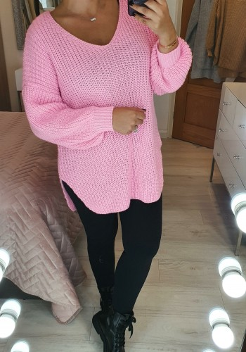 Stelanie Oversized Cable Knitted Asymmetric Jumper
