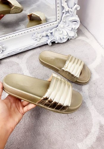Susie Padded Metallic Sliders