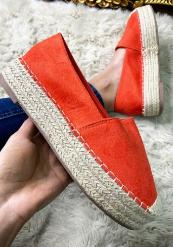 Therina Faux Suede Slip On Espadrilles