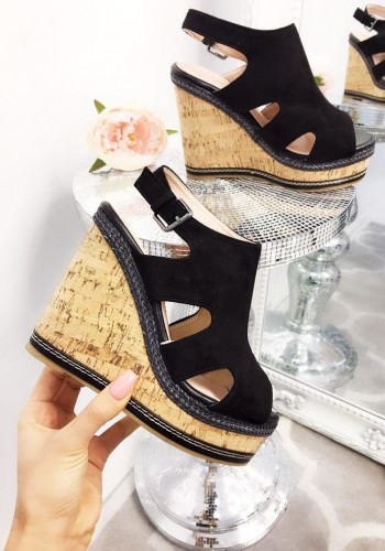 Twiggy Faux Suedette Wedges