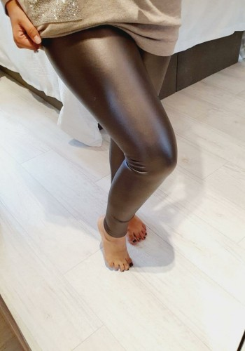 Keats Faux Leather Look High Waist Fitted Leggings