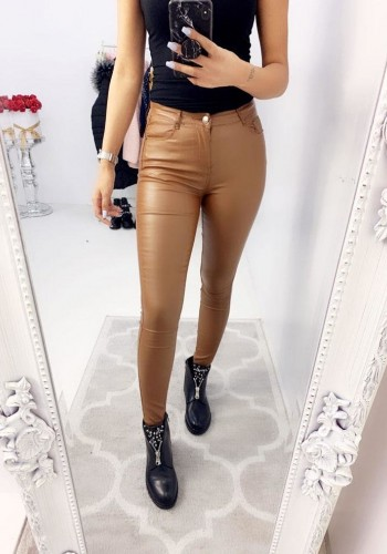 Winter Faux Leather Skinny Fit Jeans