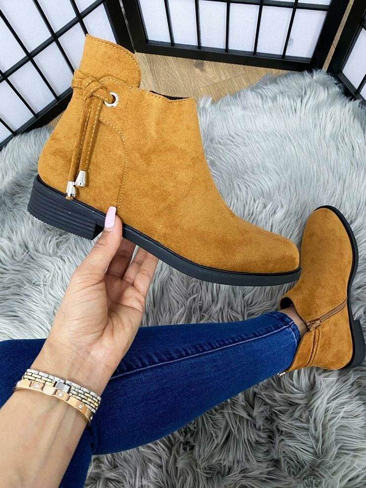 Lynelle Faux Suede Toggle Detailed Chelsea Boots